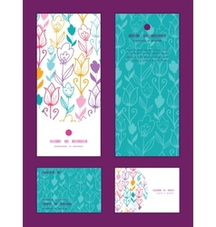 Colorful tulip flowers vertical frame vector