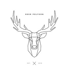 deer frame on white vector image vector image