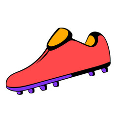 football boot icon icon cartoon vector image vector image
