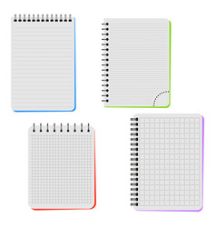 Four notebooks vector