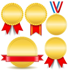 Golden Medals vector image