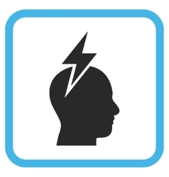 Headache icon in a frame vector