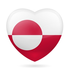 Heart icon of greenland vector