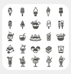 Ice cream icons set vector image vector image