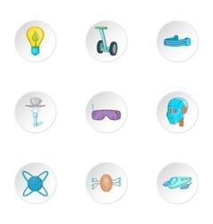 Innovative device icons set cartoon style vector