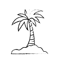 Island palm tree vector image vector image