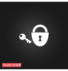 padlock and key icon Eps 10 vector image vector image