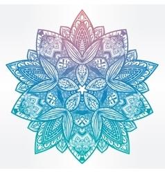 Paisley floral lotus mandala vector image vector image