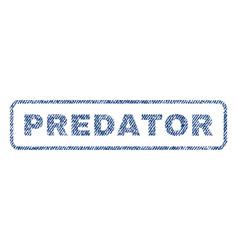Predator textile stamp vector