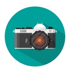 retro photo camera icon vector image vector image