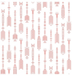 Seamless abstract pattern with stylized arrows vector image