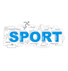 sport icons graphic design vector image