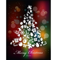 Stylized Colorful Background with Christmas vector image vector image