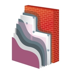 Thermal Insulation Polystyrene Isolation vector image vector image