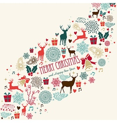 Vintage Merrey Christmas background vector image