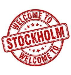 welcome to Stockholm vector image vector image
