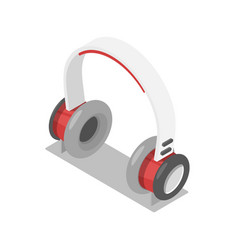 wireless headphones isometric 3d icon vector image