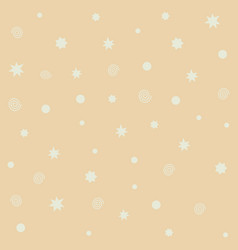 yellow seamless pattern with stars flashes vector image