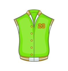 Baseball jacket icon cartoon style vector image