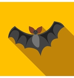 Flight of a bat icon flat style vector