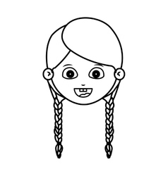 Girl cartoon face design vector