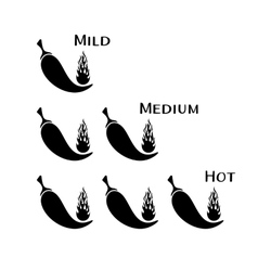 Black chilli peppers vector image