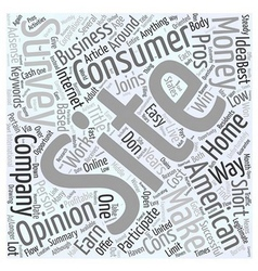 American consumer opinion word cloud concept vector