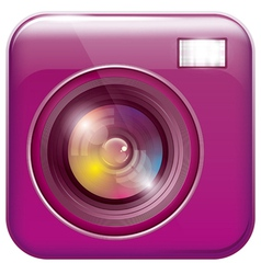 App icon with camera lens vector