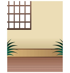Room window interior vector