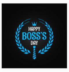 Boss day logo sign design background vector