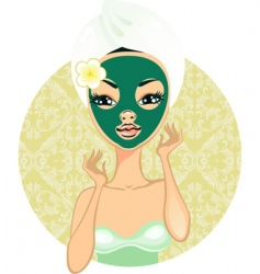 face mask vector image