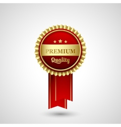 Premium quality badge label vector