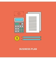Plan as essential part of business flow vector