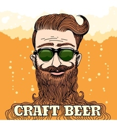Hipster craft beer theme vector