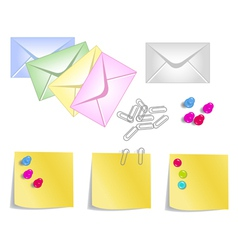 Stationery products vector