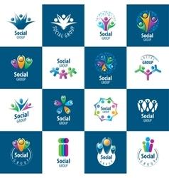 Social group logos vector