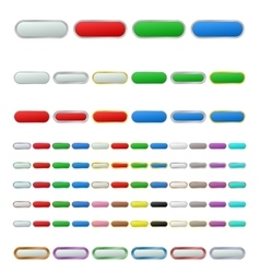 Color metallic zoom out button set vector