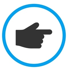 Right index finger icon vector