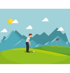 Golf tournament design vector