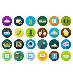 Entertainment round icons set vector