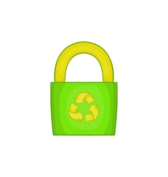 Eco bag icon cartoon style vector