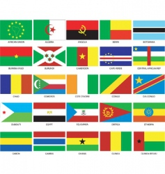 african flags vector image vector image