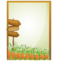 Arrow boards inside an empty frame vector image vector image