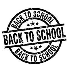 Back to school round grunge black stamp vector