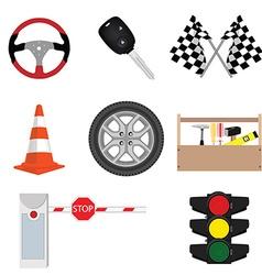 Car accessories vector