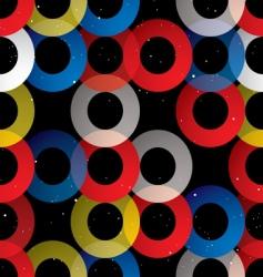 Circular seamless tile black vector