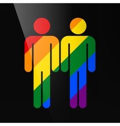 Color gay marriage homosexual flat icon vector