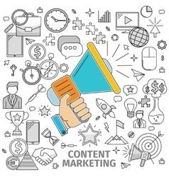Concept content marketing vector