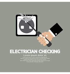 Flat Design Electrician Checking vector image vector image