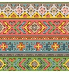 Folk ornamental textile seamless pattern vector